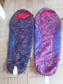 2 kids' mountain warehouse sleeping bags