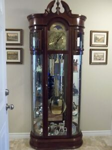 Ridgeway Curio Grandfather Clock Cambridge Kitchener Area image 1