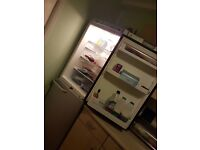 silver 6 1/2 foot fridge freezer for sale