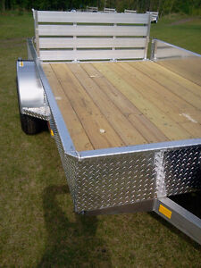 NEW!! 5.5' wide x 12' long ALUMINUM Trailer.  Canadian made!