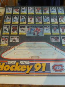 SUPER POSTERS DES CANADIENS DE MONTRÉAL  STICKERS PANINI 1991