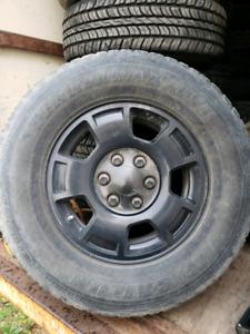 17 inch tahoe wheels black powder coated