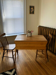 Antique Drop Leaf Table (with 2 chairs) - Pickup Only