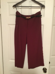 Goucho Pants size 6 Maroon River Island