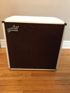 Aguilar DB212 in Hot White w/Case and Cover