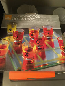 Tic Tac Toe Board Drinking Game-Never used