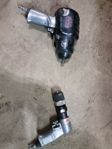 "Mac tools air drill and 1/2"" impact"