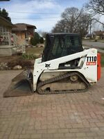 Bobcat T110 skid steer for hire or rent . Stump grinding