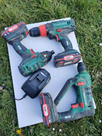 Parkside 20v drill set. Combi, sds and impact