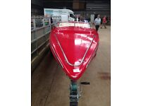 Speed boat and trailer