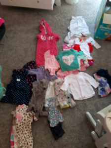 Clothing  for baby girl 0 to 6 months. Very cute and clean