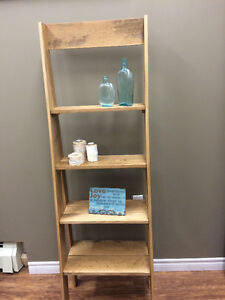 RED OAK LADDER SHELF - HANDCRAFTED!!!