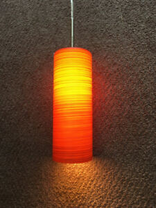 Burnt orange/rust coloured ceiling pendant light