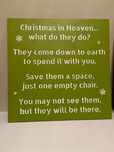 """Hand Painted Wood Christmas Signs 12"""" x 12"""", various colors Strathcona County Edmonton Area image 3"""