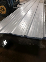 Metal roofing or siding