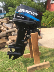 2008, 25 hp Mercury outboard