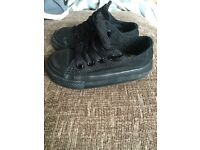 All black toddlers converse size 4