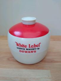 Vintage Collectable Dewar's Scotch Whisky Ice Bucket