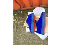 Christian LOUBOUTIN MENS low top spikes blue size uk 7