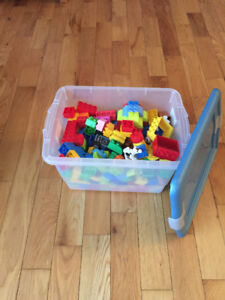 Tote of Lego Duplo. Tote Included. $30.00 or OBO