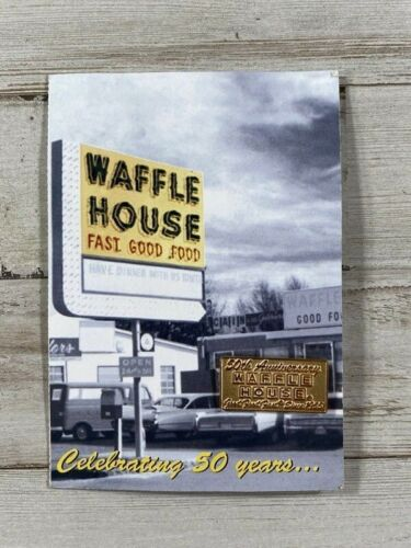 WAFFLE HOUSE Pin Celebrating 50 Years Gold Toned Pins NEW founded 1955