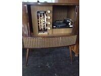 Rare vintage retro mid century decca FFss radio gram