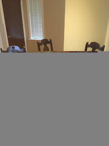 Kitchen Antique Round Dining Table and 4 Charis Windsor Region Ontario image 3