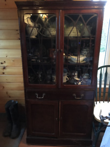 Antique Sideboard and China Cabinet