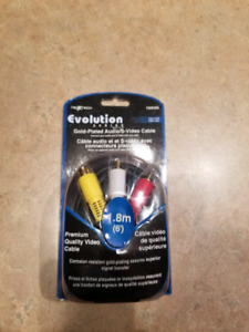 New Gold Plated Audio / S-Video Cable - 6 Feet