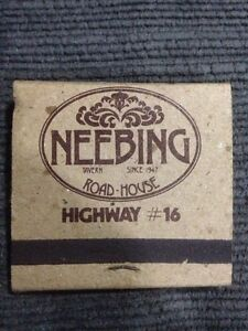 Neebing Road House Matchbook (Thunder Bay, ON) Windsor Region Ontario image 2