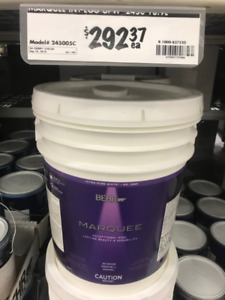 Behr Marquee EGGSHELL 5 gallon paint pure white Brand New