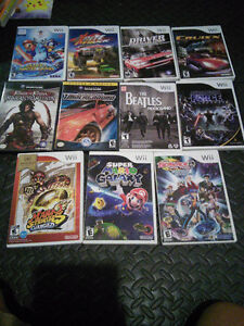 Selling Assorted Wii Games