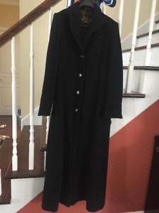Manteau noir long SMALL pour femme