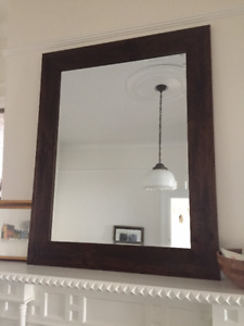 Mirror with walnut frame