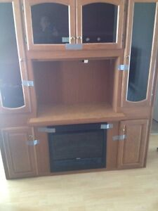 Large tv / electric fireplace unit
