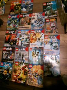 18 lego club magazine's