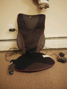 Heated massage chair for car
