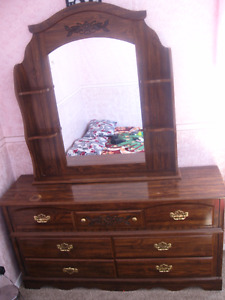 Queen Bed with matching dresser