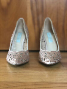 Gorgeous Betsey Johnson Champagne Bridal Heels