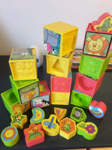 Kids cubes blocks puzzle alphabet numbers