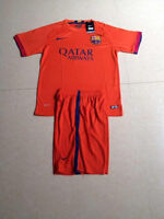 Barca 2014-15 for children soccer jersey with shorts. Orange