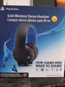 Playstation Gold Wireless Headset  NEW $80