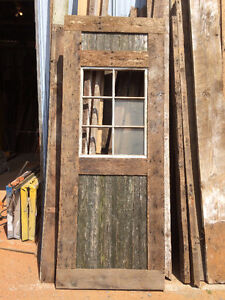 antique barn wood for feature walls ,old barn doors ,and windows