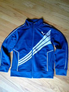 Boy's Puma Jacket-Teal- size 10/12