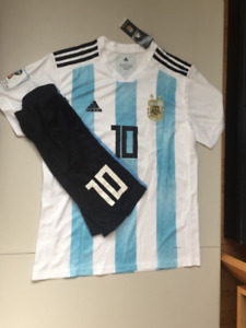 Messi #10 Argentina 2018 World cup edition Jersey/Short *NEW*
