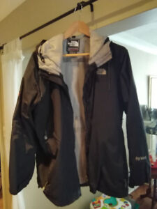 Men's THE NORTH FACE black shell HYVENT parka with hood