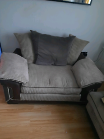 Large corner settee and chair