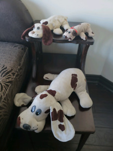 "Vintage 1984 Pound Puppies lot of 3, 18"",12"",8"" Plush Stuffed To"