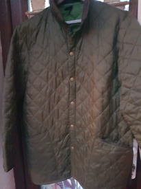 BARBOUR MENS HERITAGE LIDDESDALE NAVY QUILTED COUNTRY JACKET LARGE