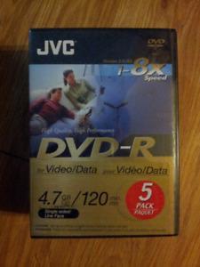 DVD-R/DVD+R 5 pack. i.e. Blank DVDs plus DVD cases
